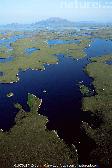 Aerial view of freshwater lochs, North Uist, Outer Hebrides, Scotland, UK  ,  LANDSCAPES,PATTERNS,LAKES,EUROPE,SCOTLAND, United Kingdom, United Kingdom  ,  John Mary-Lou Aitchison