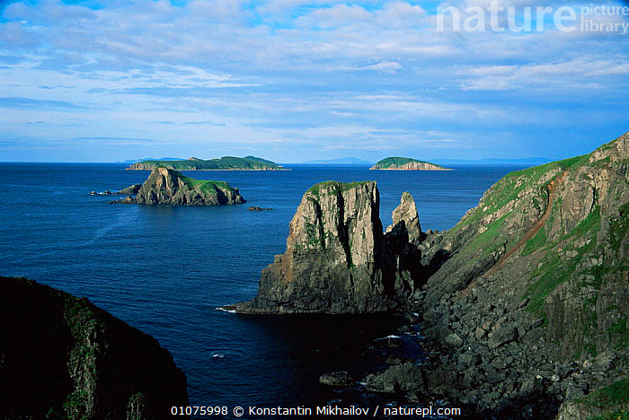 Great St Peter Bay in Sea of Japan, as viewed from Vladivistok, Primorsk, Ussuriland, Russia  ,  ASIA,bay,coastal waters,COASTS,Islands,JAPAN,LANDSCAPES,MARINE,RUSSIA,sea,seascapes,CIS  ,  Konstantin Mikhailov