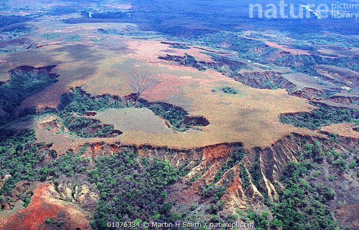 Aerial view of western Madagascr showing deforestation and soil erosion  ,  LANDSCAPES,RESERVE,PLATEAU ,AERIALS,MADAGASCAR  ,  Martin H Smith