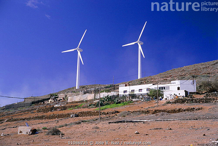 Wind turbines, Galdra, Gran Canaria, Canary Isles, Spain  ,  BUILDINGS,EUROPE,HORIZONTAL,JRU,TURBINES,WEATHER ,TURBINE,TURBINES,WIND TURBINES  ,  Jose B. Ruiz