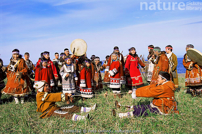 Native Koryak dancers, Ossora, Karaginsky, Kamchatka peninsula, Russia  ,  ASIA,clothing,CULTURES,dancing,GROUPS,musical instruments,PEOPLE,RUSSIA,TRADITIONAL,tribal,TRIBES,CIS  ,  Pete Oxford