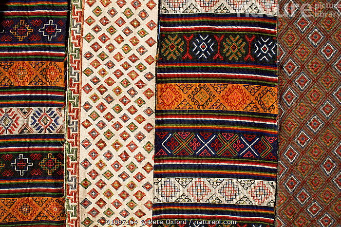 Yatra woven wool cloth, Bumthang, Bhutan 2001  ,  ARTIFACTS,ASIA,PATTERNS,TRADITIONAL,weaving,INDIAN-SUBCONTINENT  ,  Pete Oxford