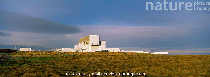 Panoramic view of Torness nuclear power station, East Lothian, Scotland, UK  ,  BUILDINGS,ENERGY,EUROPE,LANDSCAPES,nuclear,panoramic,power,SCOTLAND,station,UK,United Kingdom,British  ,  Niall Benvie