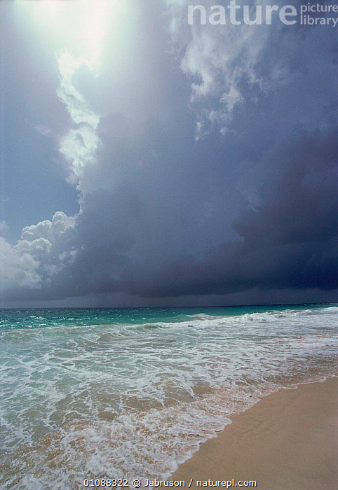 Beach landscape with storm clouds. Sal Island, Cape Verde Is, Atlantic Ocean, AFRICA,ATLANTIC,BDA,BEACHES,CLOUDS,COASTS,ISLAND,LANDSCAPE,OCEAN,SAND,SEA,SHORE,SHORELINE,SKY,STORM,STORMS,STORMY,VERTICAL,WAVES,WEST AFRICA,WEATHER,Marine , Bruce Davidson, Jabruson
