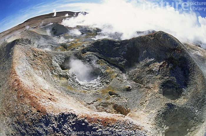 Looking down into thermal vents of hot springs, altiplano, Bolivia, ARTY SHOTS,FISHEYE,GEOTHERMAL,HIGHLANDS,HOTSPRINGS,SOUTH AMERICA,STEAM,THERMAL,VOLCANIC,VOLCANOES,Geology,SOUTH-AMERICA, Doug Allan