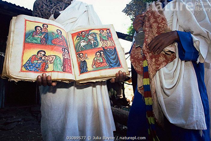 Dek Monastery Manuscript, Lake Tana, Ethiopia, AFRICA,EAST AFRICA,PEOPLE,EAST-AFRICA, Julia Bayne