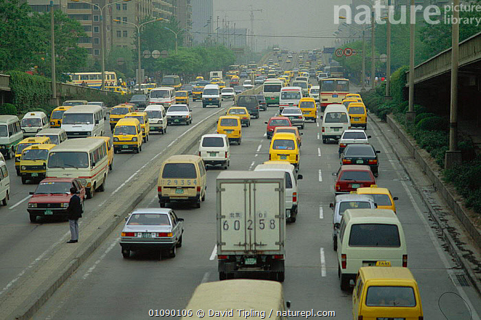 Traffic congestion, Beijing, China, ATMOSPHERIC,BEIJING,CARS,CITIES,CITY,DAVID,DTI,HORIZONTAL,POLLUTION,POPULATION,ROADS,TRAFFIC,VEHICLES,Climate change,Carbon dioxide,Asia, David Tipling