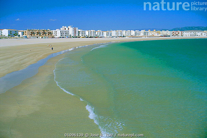 Carmen beach, Barbate, Cadiz, Spain, ATLANTIC,BEACHES,COASTS,HORIZONTAL,JRU,PEOPLE,SEA,VILLAGES,Europe, Jose B. Ruiz