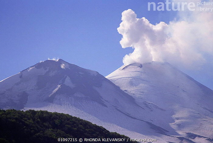 Smoke billowing out from Llaima volcano, Conguillo NP, South Chile, South America, ASH,CLOUDS,ERUPTING,HIGHLANDS,MOUNTAINS,NP,SNOW,SOUTH AMERICA,VOLCANIC,VOLCANOES,Weather,Geology,National Park,SOUTH-AMERICA, RHONDA KLEVANSKY