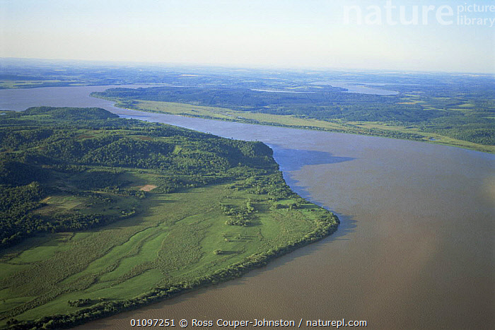 Aerial view of Parana river, before dam construction, Argentina / Paraguay border, South America, AERIALS,LANDSCAPES,RIVERS,SOUTH AMERICA,WATER,WETLANDS,SOUTH-AMERICA, Ross Couper-Johnston