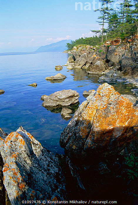 Ushkanii islands, Lake Baikal, Russia, ,COAST,COASTS,KM,LAKES,LANDSCAPE,VERTICAL,CIS, Konstantin Mikhailov