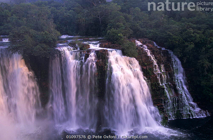 Ahfeld waterfall in Noel Kempff Mercado National Park, lowland rainforest, Bolivia, S America, HORIZONTAL,LANDSCAPES,NP,RESERVE,RIVERS,SOUTH AMERICA,TROPICAL RAINFOREST,WATER,WATERFALLS,National Park,SOUTH-AMERICA, Pete Oxford
