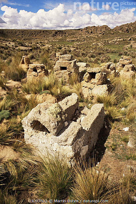 Cemetery at Altiplano, Andean mountains, Bolivia, South America, CULTURES,DEATH,HIGHLANDS,MOUNTAINS,OLD,PEOPLE,SOUTH AMERICA,TRADITIONAL,TRIBES,VERTICAL,SOUTH-AMERICA, Martin Dohrn
