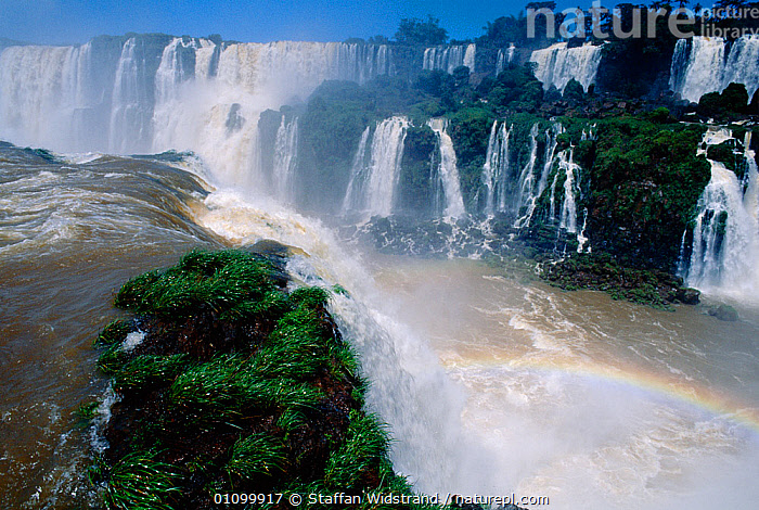 RF- Iguazu falls Brazil / Argentina border. Iguassu, South America. (This image may be licensed either as rights managed or royalty free.)  ,  DRAMATIC,HORIZONTAL,LANDSCAPES,RIVERS,SOUTH-AMERICA,WATERFALLS RF16Q4,BRAZIL,,Spectacular,Nobody,Latin America,South America,Argentina,Brazil,Geographical Border,Spectrum,Rainbow,Rainbows,Flowing Water,Waterfall,Cascade,Cascades,Waterfalls,Day,Nature,Power In Nature,Power,Powerful,Freshwater,Water,Running Water,Iguazu Falls,RF,Royalty free,RFCAT1,RF16Q4,  ,  Staffan Widstrand