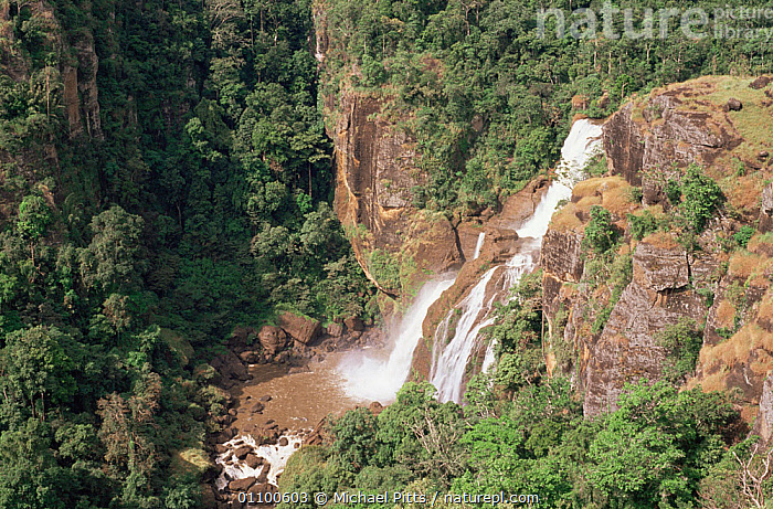 Waterfall at Varirata NP, Papua New Guinea  ,  AERIALS,ASIA,LANDSCAPES,NP,PAPUA NEW GUINEA,RESERVE,RIVERS,ROCKS,SOUTH EAST ASIA,TROPICAL,TROPICS,WATER,WATERFALLS,National Park,WEST-AFRICA  ,  Michael Pitts