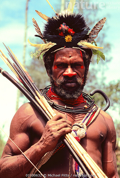 Huli wigman at Compensation ceremony, Central Highlands, Papua New Guinea  ,  ASIA,CULTURES,FEATHERS,HIGHLANDS,MALES,MAN,PAPUA NEW GUINEA,PEOPLE,PORTRAITS,SOUTH EAST ASIA,TRADITIONAL,TRIBES,VERTICAL,WEST-AFRICA  ,  Michael Pitts