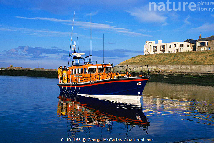 RNLI lifeboat, Seahouses, Northumberland, UK  ,  BOATS,COASTS,ENGLAND,EUROPE,PEOPLE,UK,United Kingdom,British, United Kingdom, United Kingdom  ,  George McCarthy
