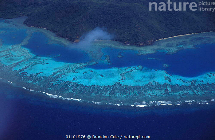 Aerial view of fringing coral reef Fiji, South Pacific NOT FOR SALE IN US  ,  AERIAL,,BCO,CORAL,CORAL REEFS,CORALS,ECOSYSTEM,HABITAT,HORIZONTAL,INDO PACIFIC,ISLAND,ISLANDS,LANDSCAPES,PACIFIC,REEFS,SCENICS,SOUTH,TRAVEL,TROPICAL,MARINE ,AERIALS,MELANESIA  ,  Brandon Cole