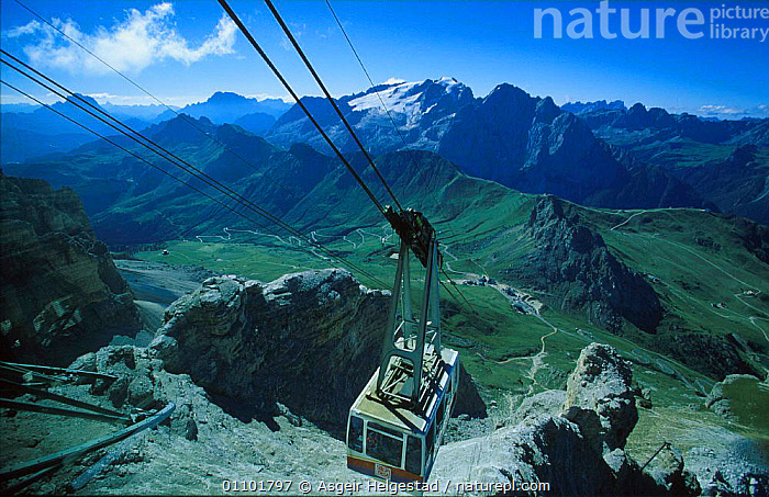 Cable-car to the top of Pordoi, Dolomites, Italy  ,  AHE,ALPINE,CABLECAR,DOLOMITES,HORIZONTAL,LANDSCAPE,LANDSCAPES,MOUNTAIN,MOUNTAINS,RESERVE,SCENIC,SCENICS,TOURISM,TRANSPORT,TRAVEL,VIEW,Europe  ,  Asgeir Helgestad