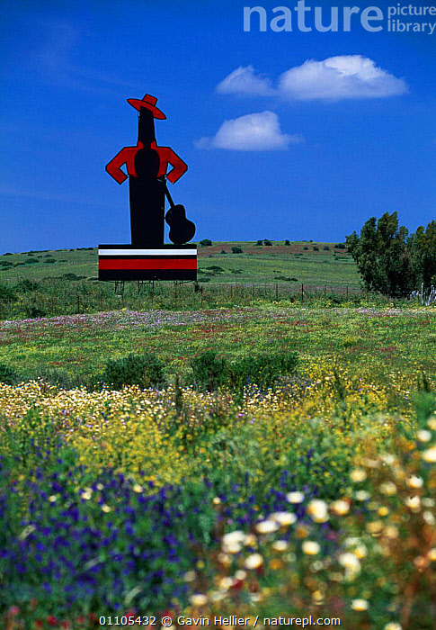 Tio Pepe - Sherry Billboard in field of wild flowers Andalucia, Spain, Europe  ,  ADVERTISING,ANDALUCIA,BILLBOARD,BOARD,COUNTRY,COUNTRYSIDE,FIELD,FIELDS,FLOWERS,GHE,NOTICE,OUTLINE,PEPE,SHERRY,SIGN,SIGNS,TRAVEL,VERTICAL,WILD,Europe  ,  Gavin Hellier