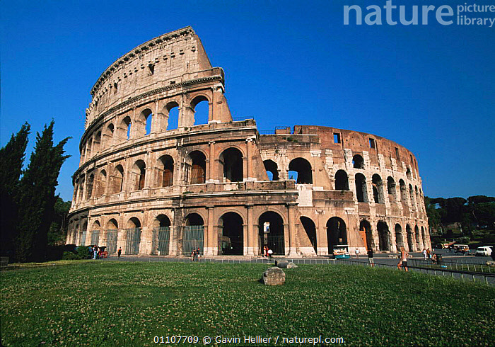 The Colosseum, Rome, Italy  ,  ANCIENT,ARCHAEOLOGY,ATTRACTION,CIVILISATION,FAMOUS,GHE,HORIZONTAL,LANDMARK,LANDSCAPES,OLD,REMAINS,ROMAN,ROME,RUINS,TOURIST,TRAVEL,Europe  ,  Gavin Hellier