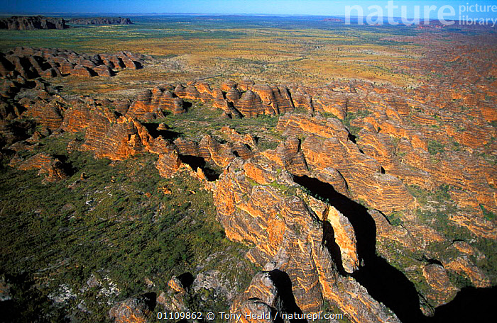 Bungle bungles, Kimberley, Purnululu NP, Western Australia, AERIAL,AUSTRALIA,EROSION,GEOLOGY,HORIZONTAL,KIMBERLEY,LANDSCAPE,LANDSCAPES,NP,RESERVE,ROCK FORMATIONS,SANDSTONE,SCENIC,SCENICS,TH,NATIONAL PARK ,AERIALS, Tony Heald