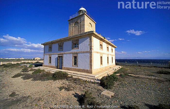 Lighthouse, Isla de Tabarca, Spain, LANDSCAPES,BUILDNGS,COASTS ,LIGHTHOUSES,Europe,BUILDINGS, Jose B. Ruiz