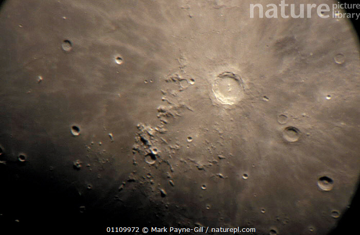 Close up of Copernicus and Carpathian mountains of the Moon, HORIZONTAL,CLOSE UPS,CLOSE UP,CRATERS,CRATER,SKIES,SURFACE, Mark Payne-Gill