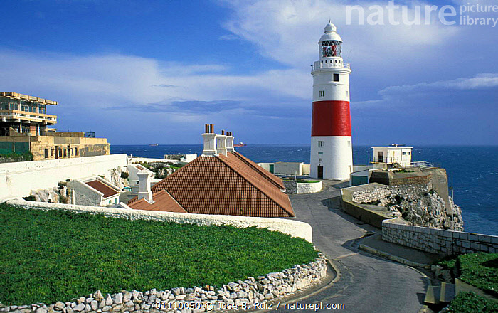 Punta Europa lighthouse, Gibraltar, Spain, BUILDINGS,LANDSCAPES,POINT,COASTS,EUROPE ,LIGHTHOUSES,SPAIN, Jose B. Ruiz
