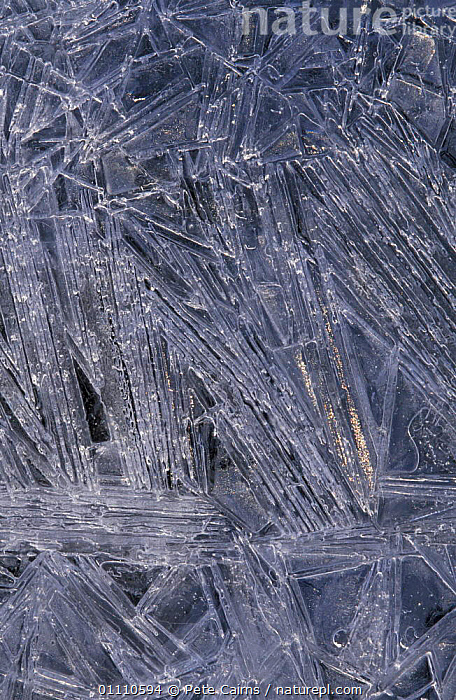 Crystallised ice patterns on river, Strathspey, Scotland, UK, FROZEN,EUROPE,RIVERS,WINTER,WATER,NP,ABSTRACTS,NATIONAL PARK, United Kingdom, United Kingdom, United Kingdom, Pete Cairns