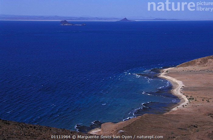 Coastal landscape of The Seven Brothers coral islands, Djibouti, East Africa  ,  COAST,COASTS,CORAL REEFS,LANDSCAPES,SEA,MARINE,EAST-AFRICA,Africa  ,  Marguerite Smits Van Oyen