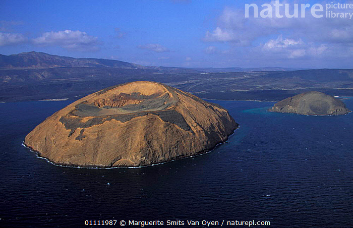 Aerial view of Ile du Diable and Bay of Ghoubbet, Djibouti, East Africa  ,  COASTS,,HORIZONTAL,ISLAND,LANDSCAPES,VOLCANOES,VOLCANIC ,AERIAL,GEOLOGY ,AERIALS,EAST-AFRICA,Africa  ,  Marguerite Smits Van Oyen
