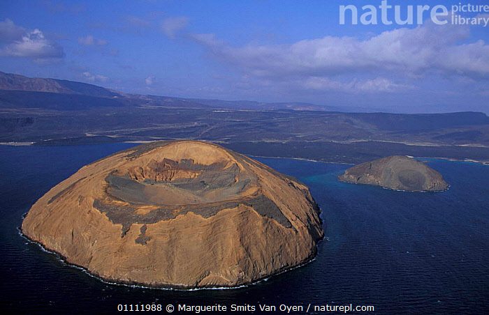Aerial view of Ile du Diable and Bay of Ghoubbet, Djibouti, East Africa  ,  VOLCANOES,LANDSCAPES,ISLAND,HORIZONTAL,,COASTS ,AERIAL,GEOLOGY ,AERIALS,EAST-AFRICA,Africa  ,  Marguerite Smits Van Oyen