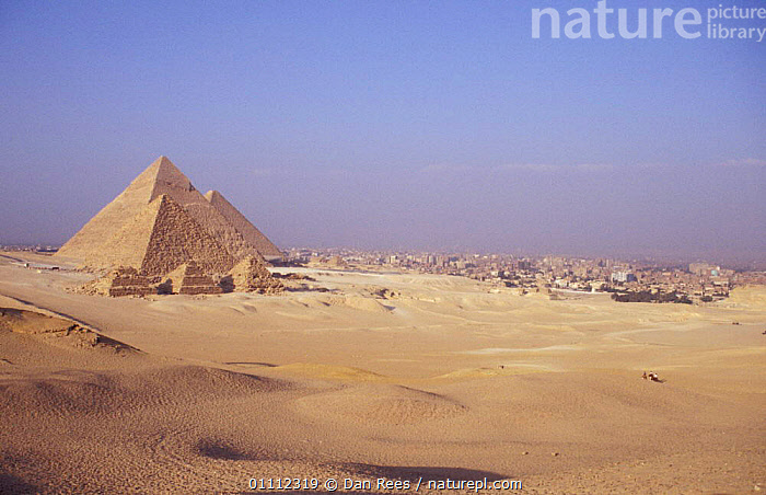 Cairo and the Pyramids, Egypt  ,  AFRICA,ANCIENT,CITIES,DESERT,DESERTS,LANDMARK,LANDSCAPE,LANDSCAPES,NORTH-AFRICA  ,  Dan Rees