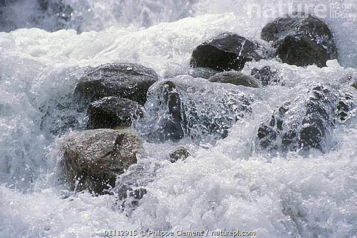 Glacial melt water from melting glacier, Gran Paradiso NP, Alps, Italy  ,  ALPINE,DIGITAL,EUROPE,GEOLOGY,GLACIERS,HORIZONTAL,ITALY,NATIONAL PARK,NP,PCL,POWER,SPRAY,WHITE  ,  Philippe Clement