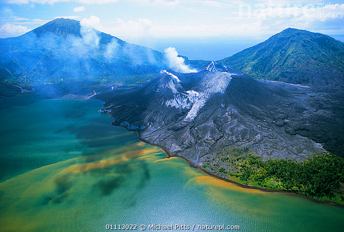 Tuvurvur volcano, East New Britain, Papua New Guinea  ,  PAPUA NEW GUINEA,LAKES,GEOTHERMAL,LANDSCAPES,HORIZONTAL,VOLCANOES,Geology,WEST-AFRICA  ,  Michael Pitts