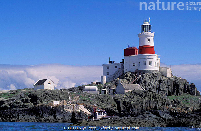 Lighthouse, Skerries Is, Co. Dublin, Eire. Important breeding site of Arctic Terns  ,  BUILDINGS,COASTS,EUROPE,IRELAND,LANDSCAPE,LANDSCAPES ,LIGHTHOUSES  ,  Pete Oxford