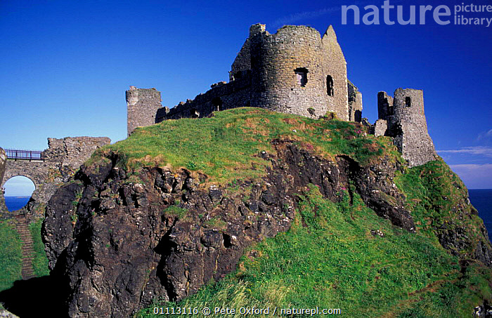Dunluce Castle, Co. Antrim, Northern Ireland. 16th century stronghold of MacDonnells.  ,  BUILDINGS,CASTLES,EUROPE,LANDSCAPE,LANDSCAPES,MACDONNELLS,RUIN,RUINS,UK,UNITED KINGDOM,BRITISH  ,  Pete Oxford