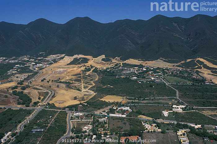 Urban expansion, Monterrey city, Mexico  ,  LANDSCAPES,DEFORESTATION,VIEW,POPULATION,MOUNTAINS,AERIAL,CITIES ,AERIALS,CENTRAL-AMERICA  ,  Patricio Robles Gil
