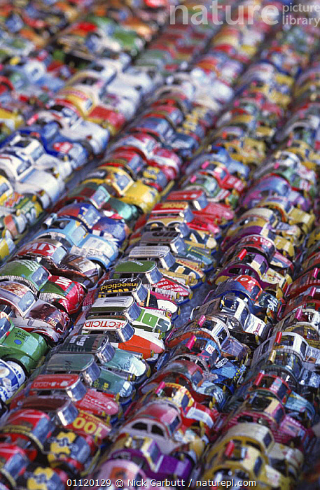 Toy cars made from tin cans, Antananarivo market, Madagascar  ,  AFRICA,COLOURFUL,MADAGASCAR,VEHICLES  ,  Nick Garbutt