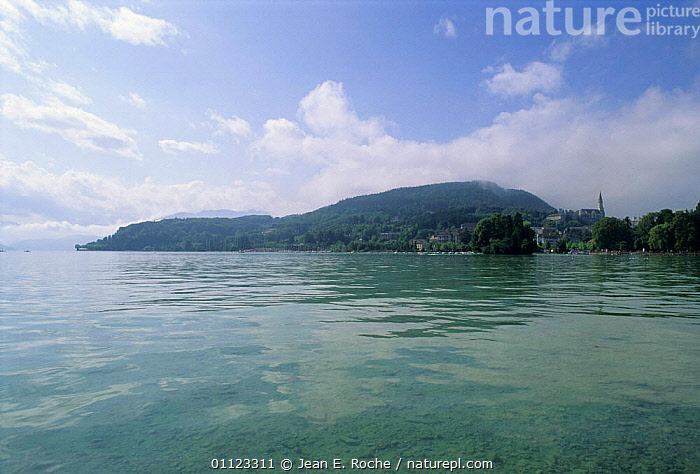 Lac Annecy, Annecy, Haute Savoie, France  ,  HORIZONTAL,LAKES,LANDSCAPES,SHORELINE,WATER,Europe  ,  Jean E. Roche
