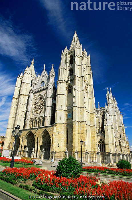 Leon Cathedral, Spain  ,  BUILDINGS,CHURCHES,EUROPE,SPAIN,VERTICAL  ,  Jose B. Ruiz