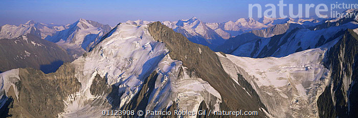 Aerial view of St Elias mountains, Kluane NP, Yukon, Canada  ,  AERIALS,CANADA,HIGHLANDS,MOUNTAINS,NORTH AMERICA,NP,PANORAMIC,PEAKS,RANGES,SNOW,SUMMIT,National Park  ,  Patricio Robles Gil