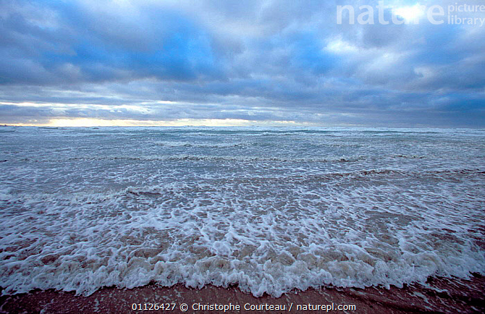 Audierne Bay in storm at low tide, Brittany, France  ,  CLOUDS,COASTS,LANDSCAPES,SEA,STORMS,WAVES,Weather,Europe,Catalogue1  ,  Christophe Courteau