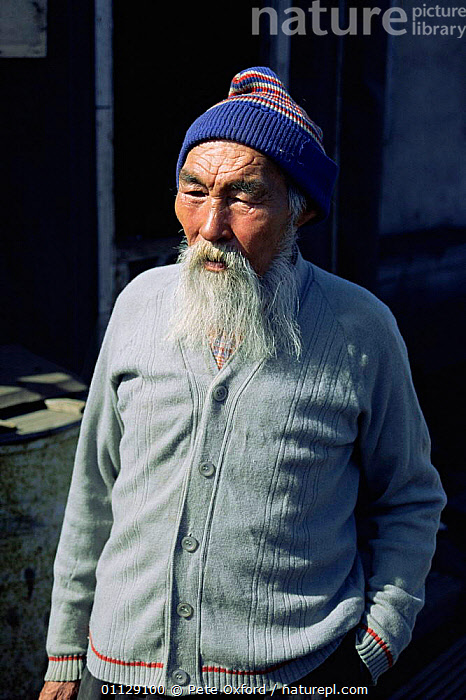 Village elder, Chukchi eskimos, Inchoun village, E Siberia, Russia  ,  BEARD,ARCTIC,ASIA,EAST,TRADITIONAL,VERTICAL,PORTRAITS,TRIBES,PEOPLE,MAN,CIS  ,  Pete Oxford