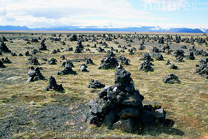 Laufskalavordur / stone mounds made by early settlers, Iceland, CONSTRUCTED,ANCIENT,ARTIFACTS,Europe, Michael Hutchinson