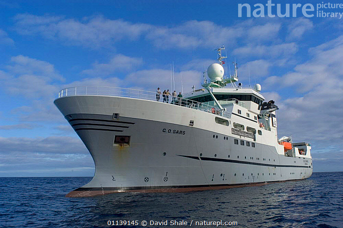 Research vessel, GO Sars at sea, 2004  ,  BOATS,DEEPSEA,OCEANOGRAPHIC,RESEARCH,SHIP  ,  David Shale