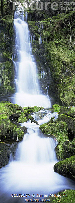 Waterfall, Cwm Llwch stream, Pen Y Fan, Brecon beacons, Powys, Wales, UK 2006  ,  EUROPE,PANORAMIC,RIVERS,UK,VERTICAL,WATERFALLS,United Kingdom,British,WALES  ,  James Aldred