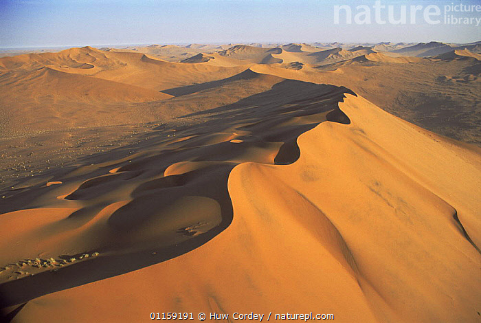 Aerial sand dunes, Sossusvlei, Namib Naukluft NP, Namibia, 2005