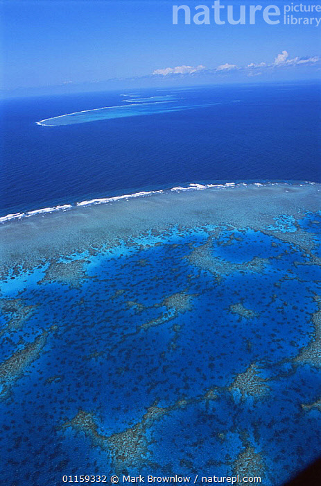 Aerial view of Great Barrier Reef, Queensland, Australia, September 2006, BBC Planet Earth  ,  AERIALS,AUSTRALASIA,AUSTRALIA,CORAL REEFS,CORALS,LANDSCAPES,MARINE,NP,RESERVE,SEA,TROPICAL,VERTICAL,National Park  ,  Mark Brownlow